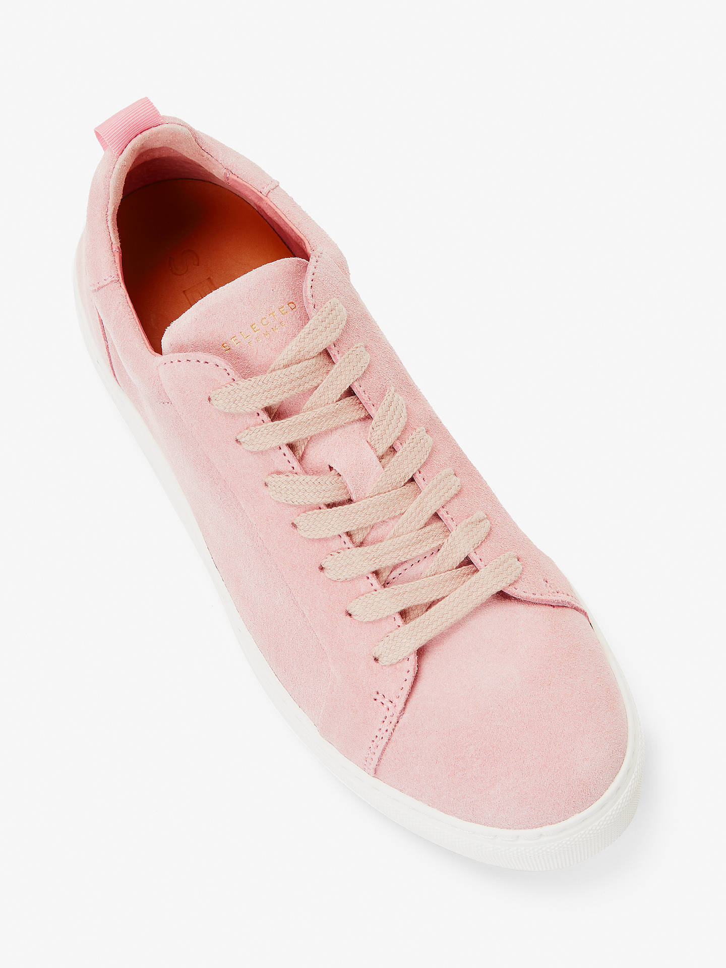 6ef91bff21e ... Buy Selected Femme Donna Trainers, Heavenly Pink Suede, 8 Online at  johnlewis.com