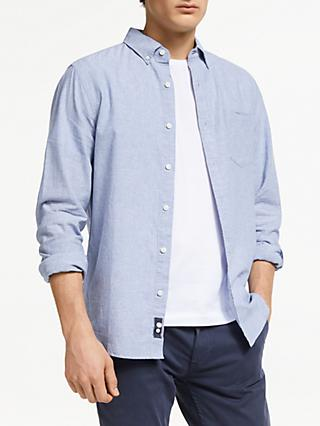 John Lewis & Partners Linen Cotton Slim Fit Shirt