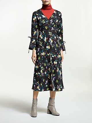 Finery Romy Floral Printed Dress, Dark Navy