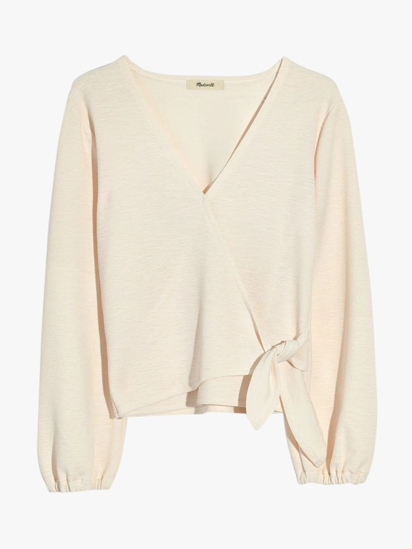 d4a16697c7f986 Madewell Miller Crossbody Top, Pearl Ivory at John Lewis & Partners