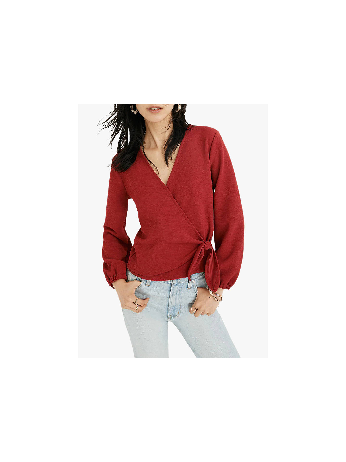 6cc1b655ae716f ... Buy Madewell Miller Crossbody Wrap Top, Deep Crimson, S Online at  johnlewis.com ...