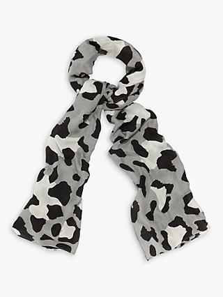 Phase Eight Piera Leopard Print Scarf, Grey
