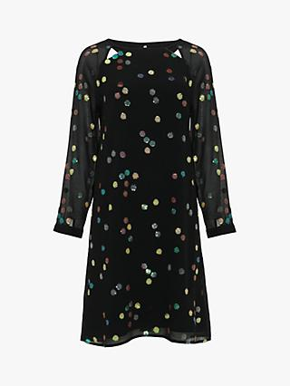 Phase Eight Evie Rose Sequin Dress, Black