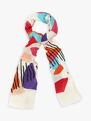 Phase Eight Gisella Abstract Print Scarf, Multi