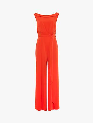 Phase Eight Geneviev Jumpsuit, Vermilion Red