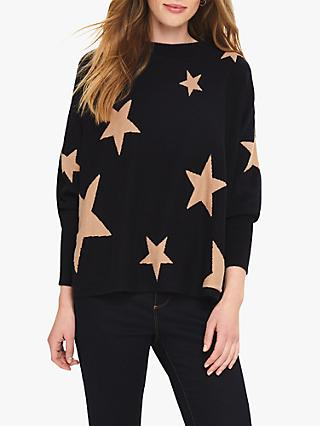 Phase Eight Suzette Star Jumper, Navy