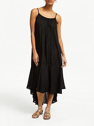 AND/OR Marilyn Metallic Stripe Dress, Black