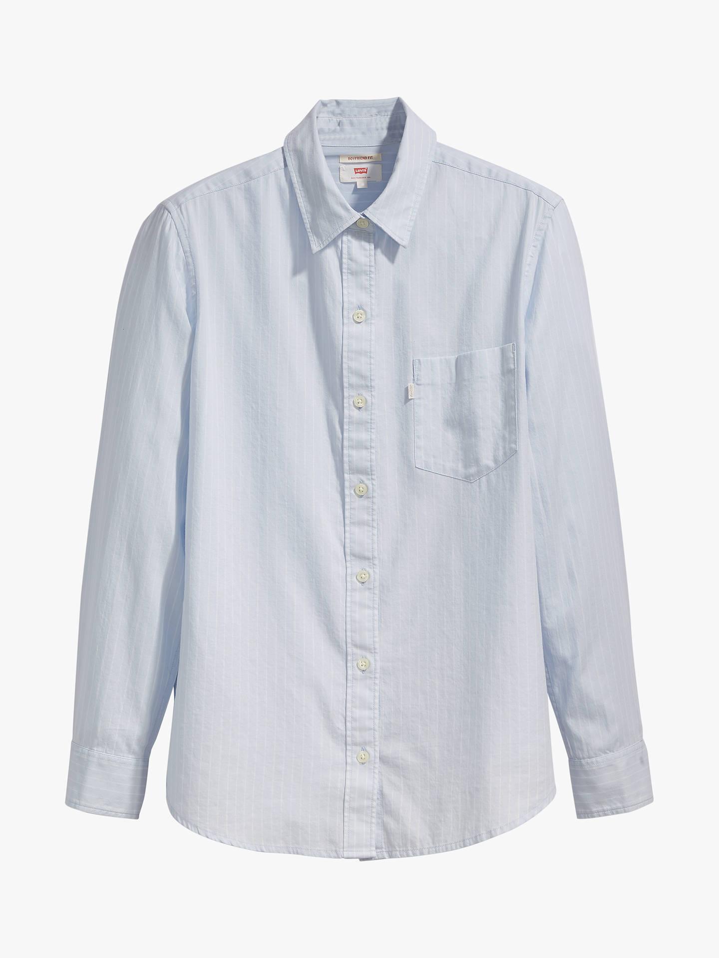 e6a59af75f8d1 Levi's Ultimate Boyfriend Stripe Cotton Shirt, Limestone Xenon Blue ...