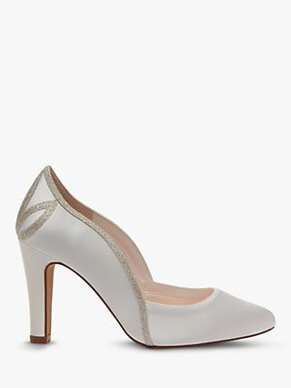 Rainbow Club Kourtney Cone Heel Court Shoes, Ivory