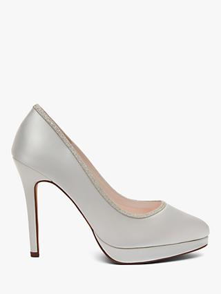 Rainbow Club Tallulah Stiletto Heel Platform Court Shoes, Ivory