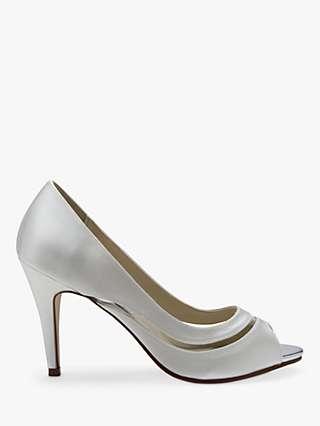 Rainbow Club Elosia Open Toe Court Shoes, Ivory
