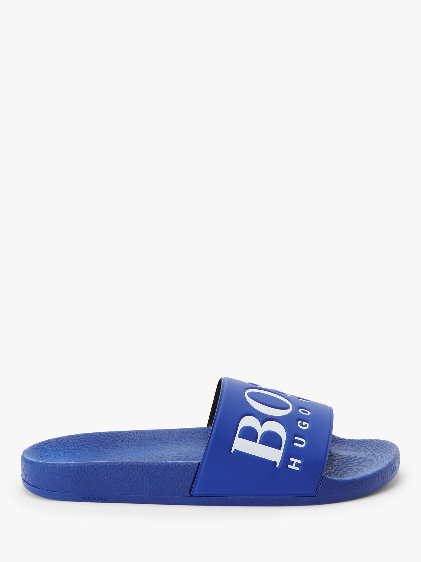 4c29a31f0 BOSS Rubber Contrast Logo Slider Flip Flops at John Lewis   Partners