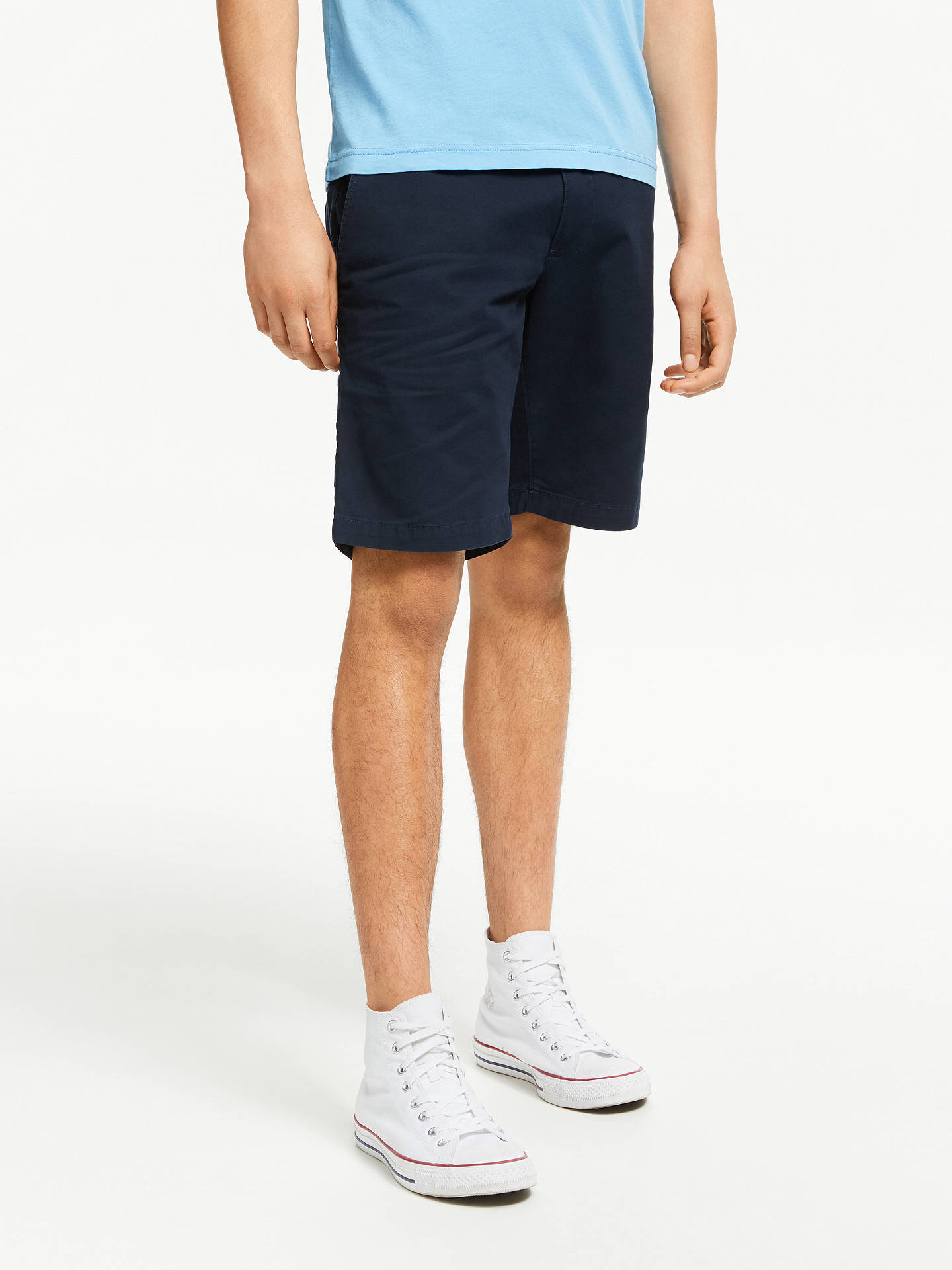 3026e61f Buy Tommy Hilfiger Brooklyn Light Twill Shorts, Sky Captain, 34R Online at  johnlewis.