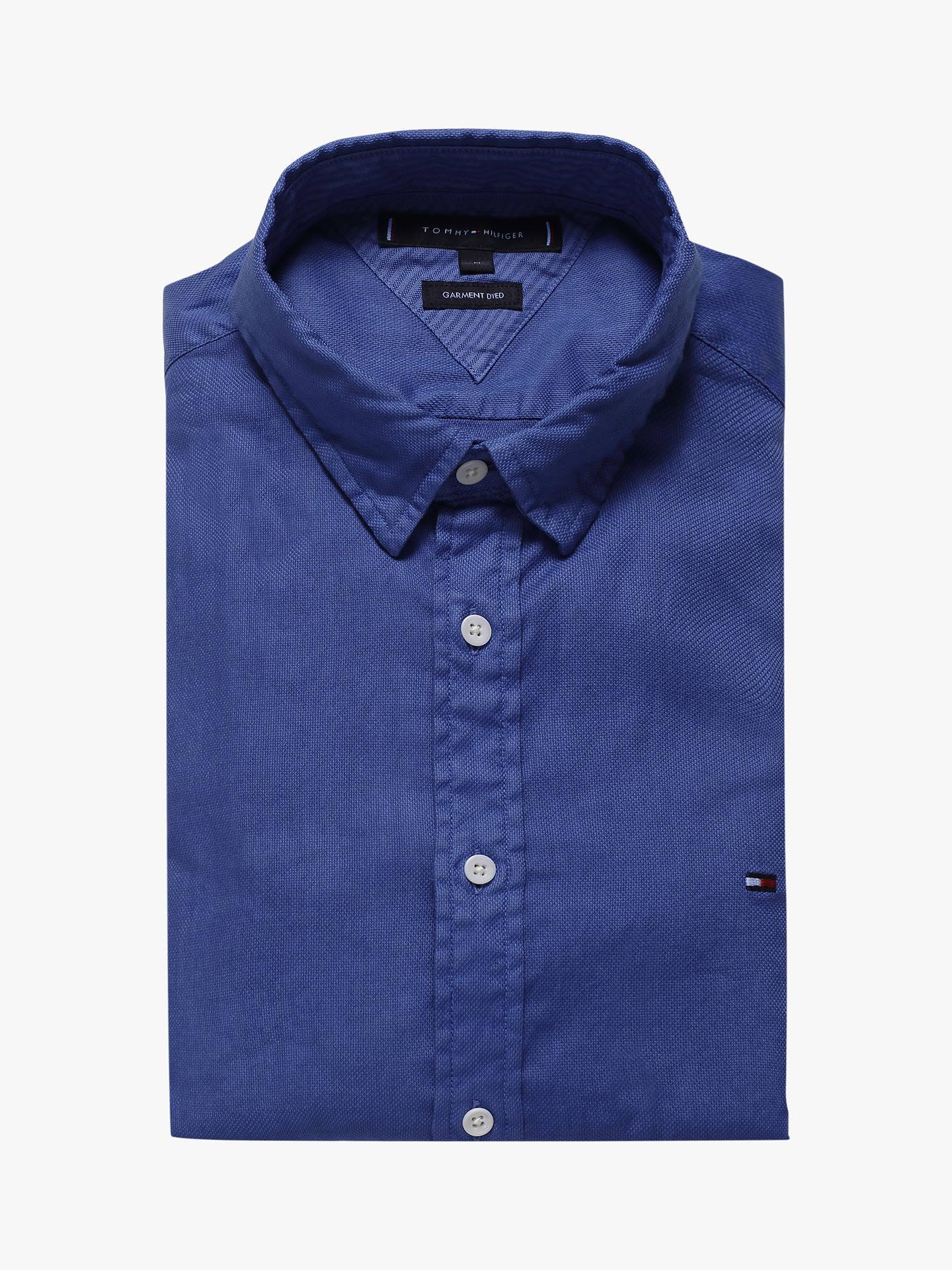 Tommy Hilfiger Cotton Linen Dobby Shirt blue quartz Tommy