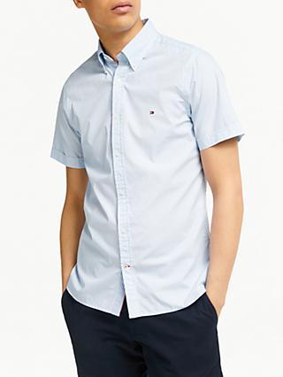 0f890316 Tommy Hilfiger Short Sleeve Slim Fit Mini Print Shirt, Blue