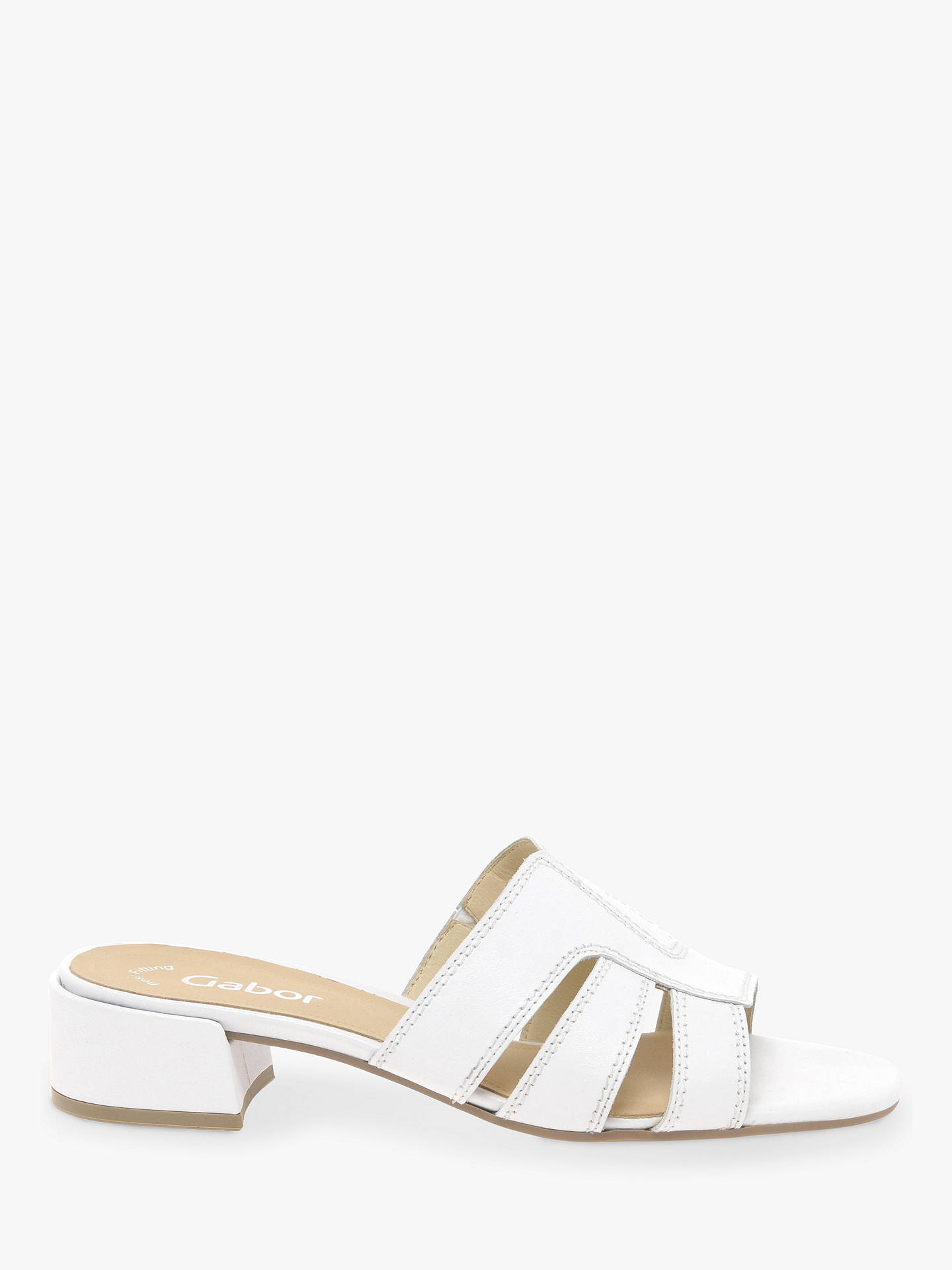89868f8b2a2 Gabor Amos Block Heel Slip-On Sandals at John Lewis   Partners