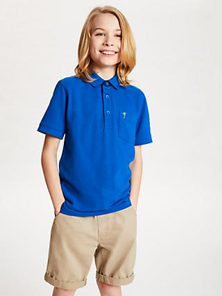 John Lewis & Partners Boys' Polo Shirt, Royal Blue