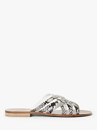 Modern Rarity Luciana Leather Woven Sandals