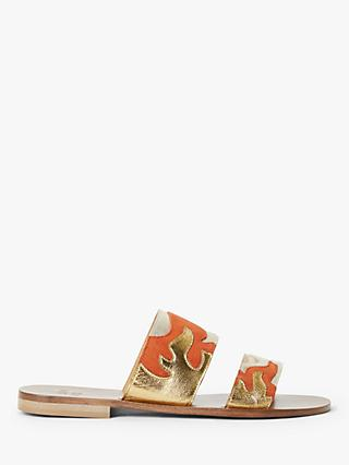 AND/OR Lilia Leather Slip On Sandals, Multi