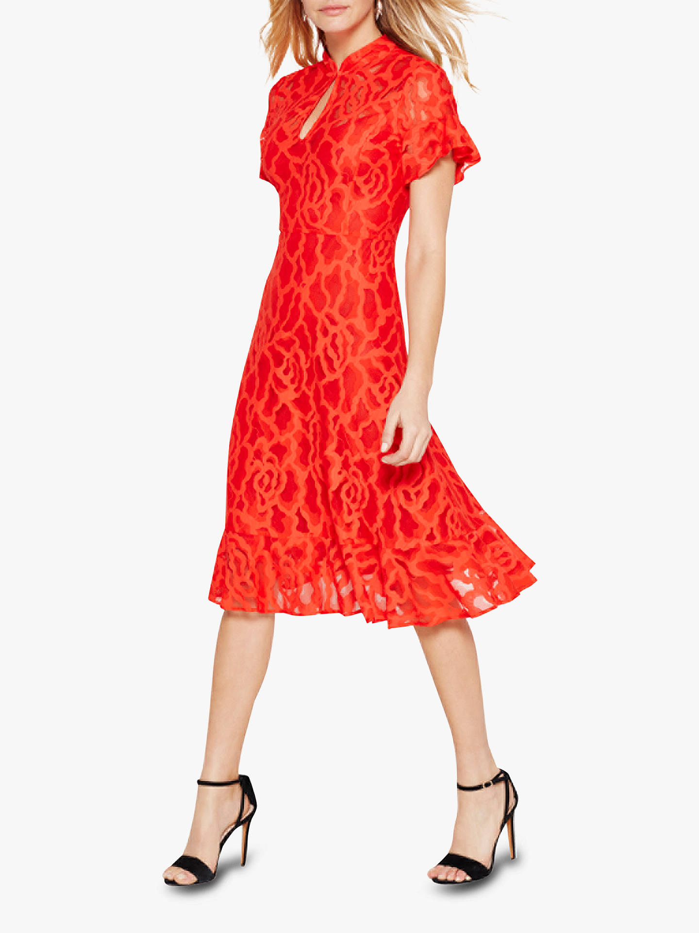 Buy Damsel in a Dress Lulu Lace Hem Dress, Red, 10 Online at johnlewis.com