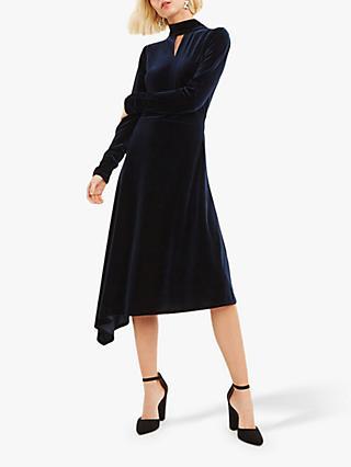 8f8a7707f752c Oasis Velvet Asymmetric Dress