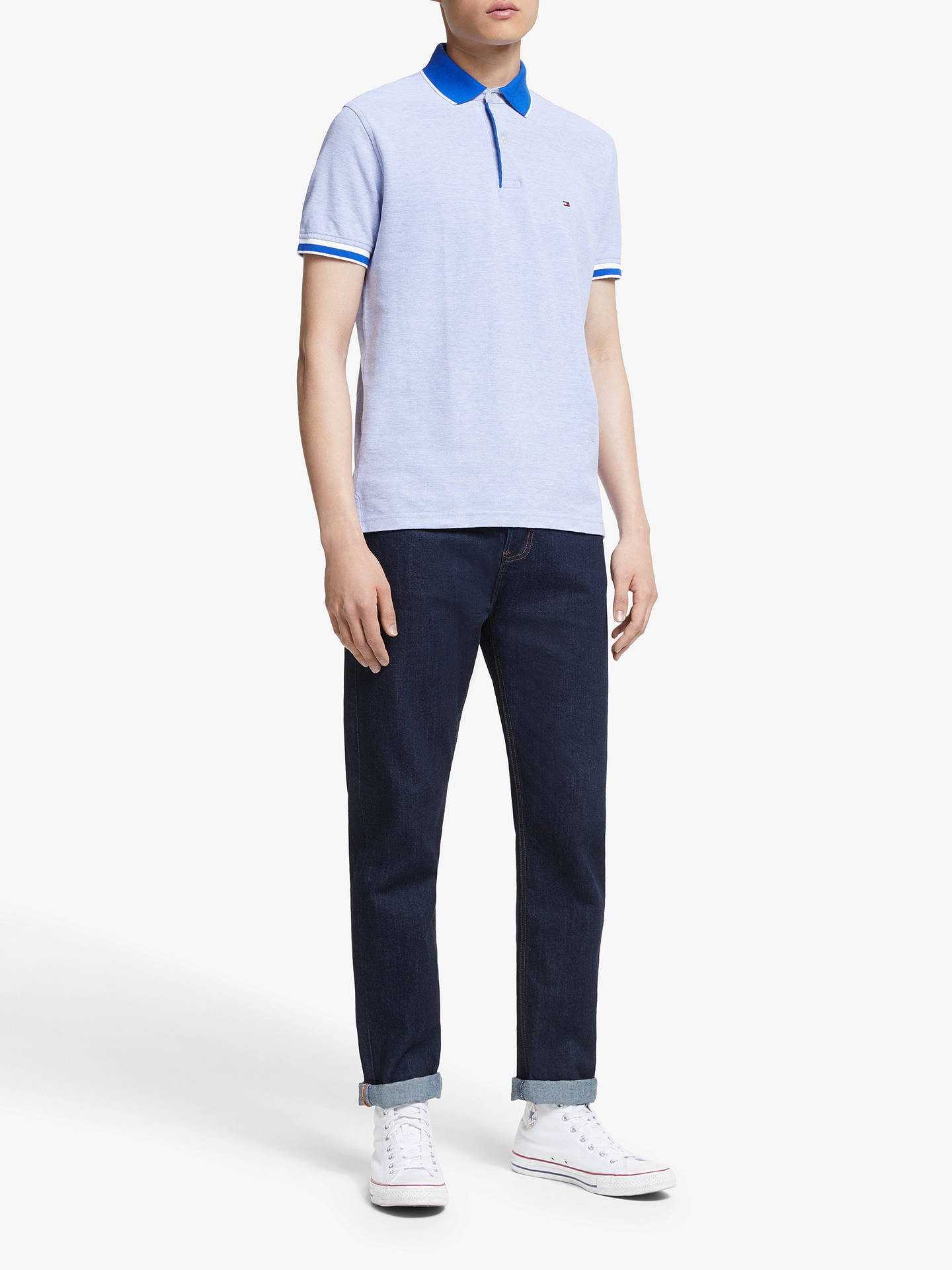 Tommy Hilfiger Slim Fit Oxford Polo Shirt, Surf The Web at