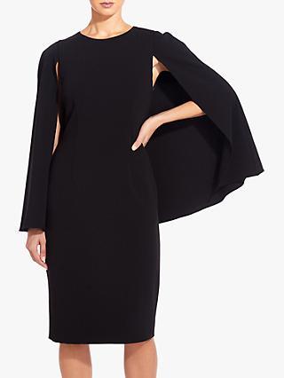 1533661bf3697e Adrianna Papell Knit Crepe Midi Cape Dress