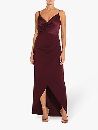 Adrianna Papell Crepe Knit Sheath Dress, Dark Burgundy