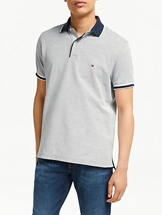 0377d80a Tommy Hilfiger Oxford Cotton Slim Polo Shirt, Sky Captain