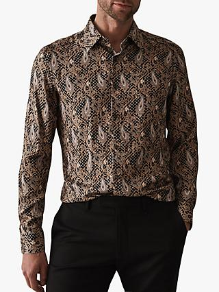 Reiss Tate Paisley Print Slim Fit Shirt, Multi