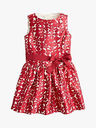 crewcuts by J.Crew Girls' Heart and Flower Dress, Red