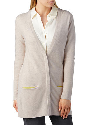 Buy Pure Collection Cashmere Boyfriend Cardigan, Marble, 12 Online at johnlewis.com