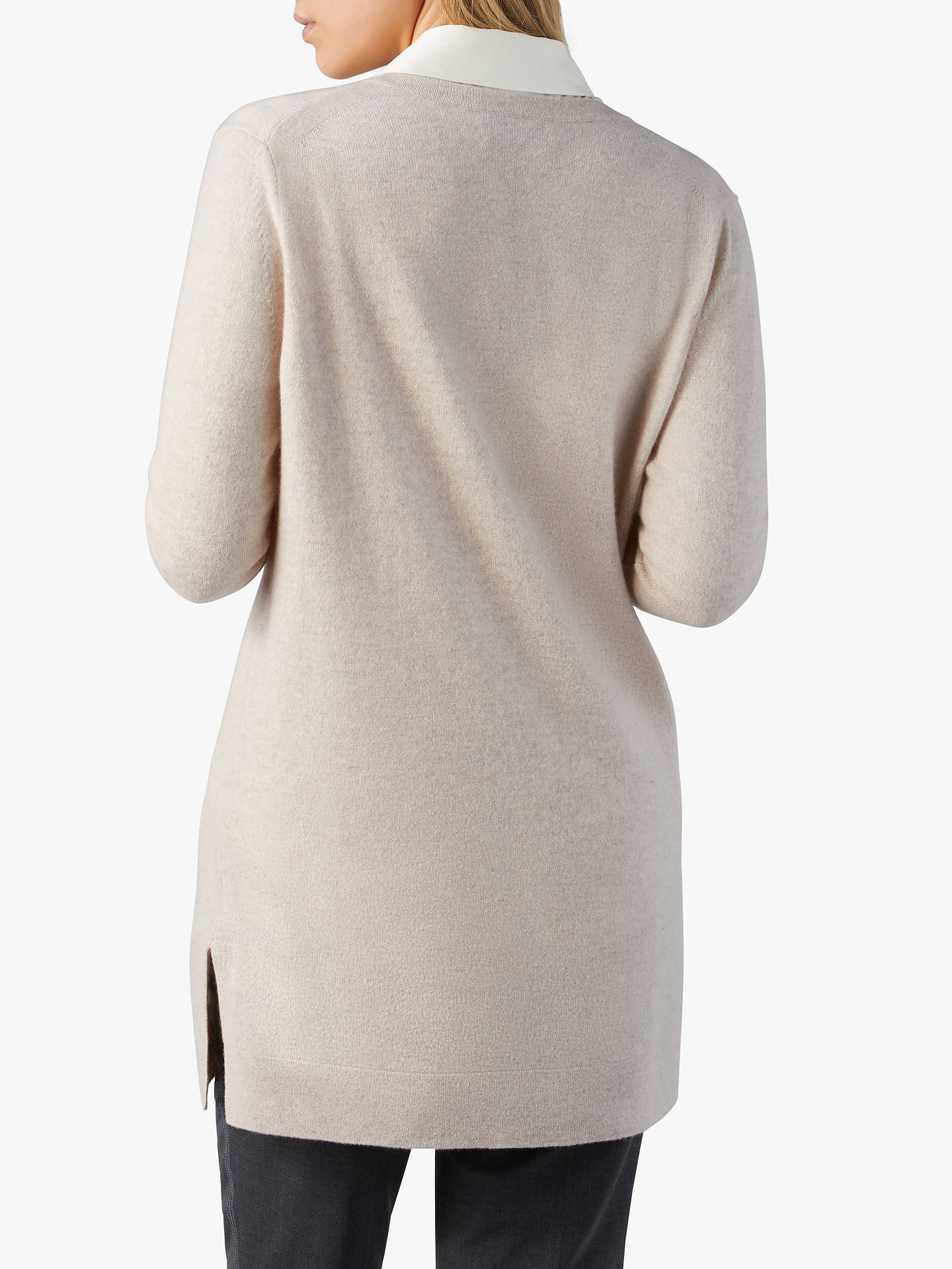 Buy Pure Collection Cashmere Boyfriend Cardigan, Marble, 16 Online at johnlewis.com