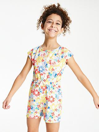 8b49b21603 John Lewis   Partners Girls  Floral Print Playsuit