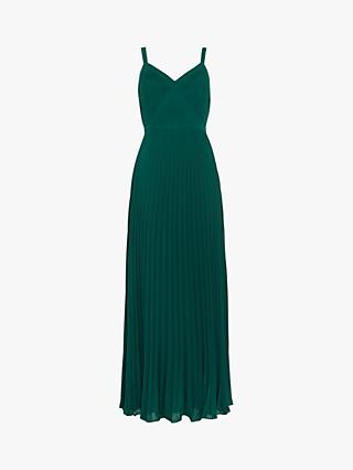 Phase Eight Giovanna Pleated Maxi Dress, Jade