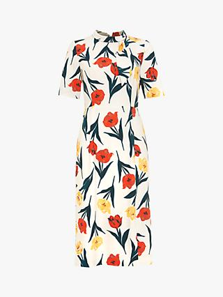 Phase Eight Melinda Floral Dress, Oyster/Multi
