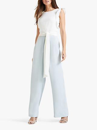 Phase Eight Victoriana Jumpsuit, Ivory/Duck Egg