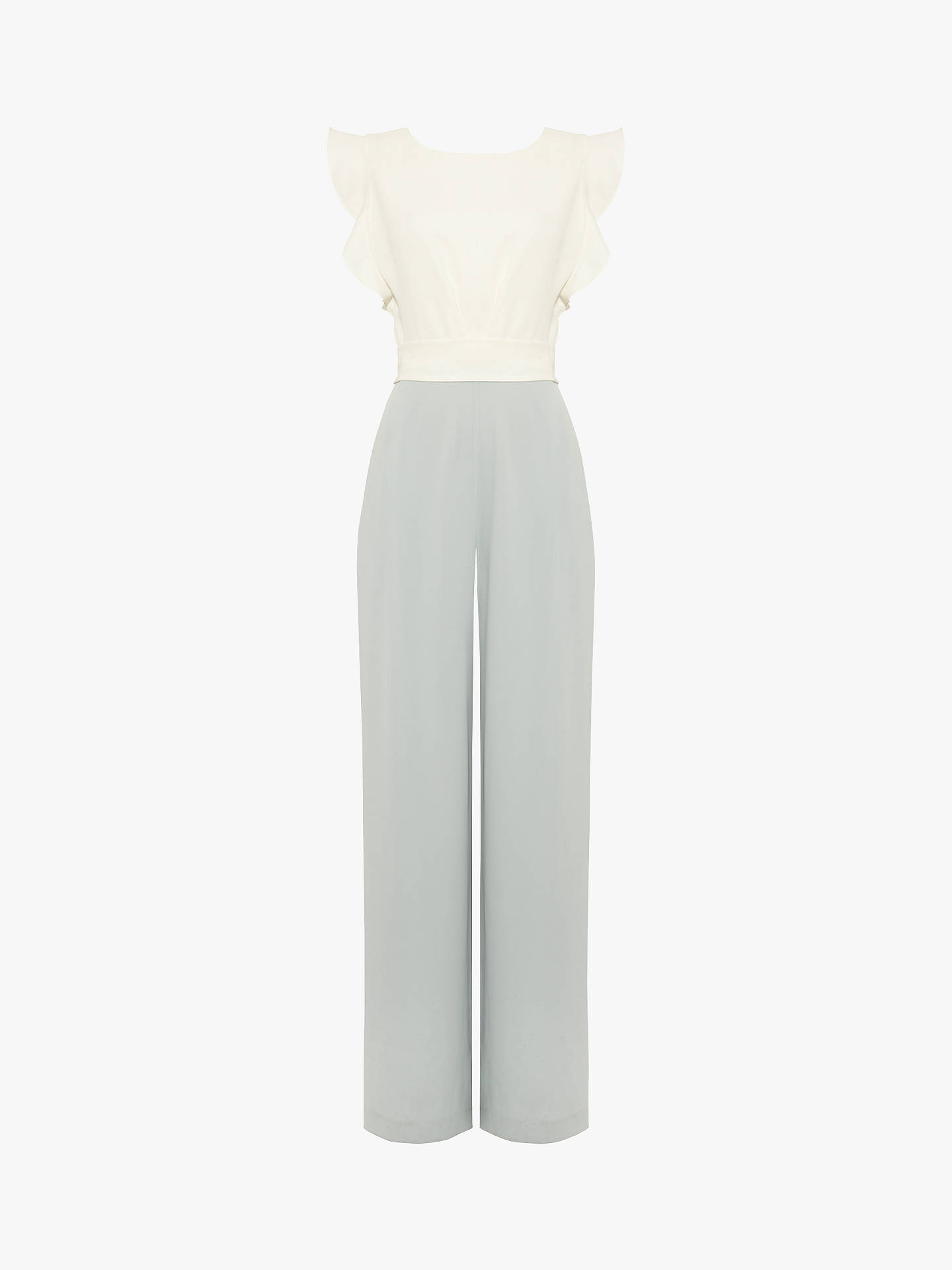 Buy Phase Eight Victoriana Jumpsuit, Ivory/Duck Egg, 6 Online at johnlewis.com
