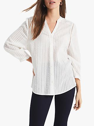 Phase Eight Naya Textured Blouse, White