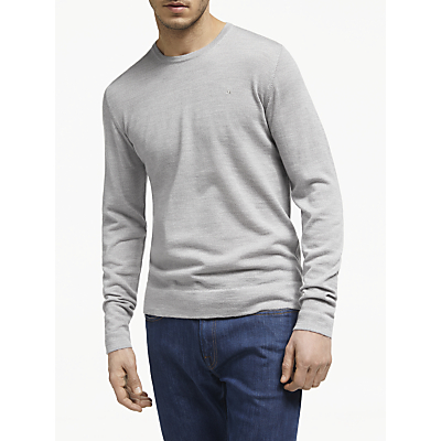 J.Lindeberg Merino Wool Jumper, Stone Grey
