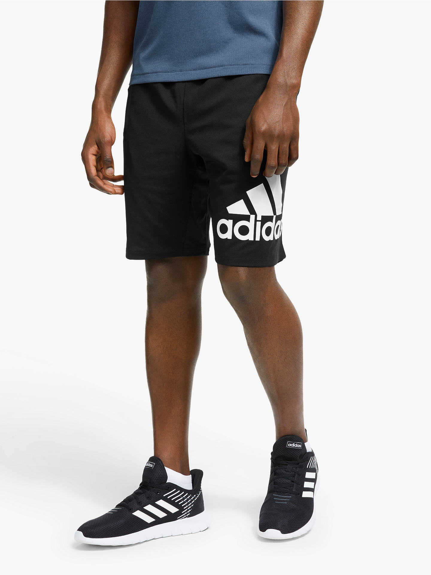 08dd3f6c3 Buy adidas 4KRFT Badge of Sport Graphic Training Shorts, Black, XL Online  at johnlewis ...