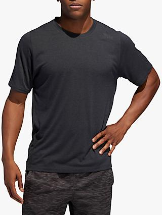 adidas FreeLift Sport Prime Heather Training Top, Grey Four/Black