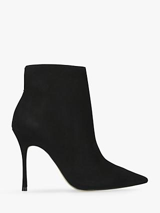 Carvela Grow Nubuck High Heel Ankle Boots, Black