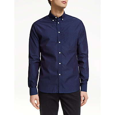 J.Lindeberg Jacquard Shirt, Mid Blue