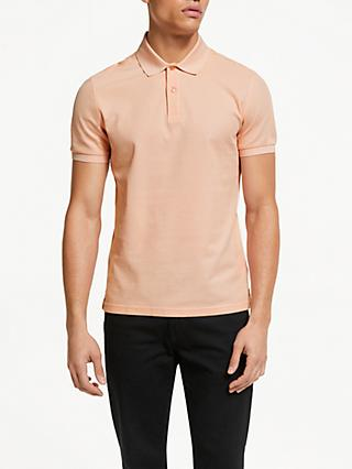 J.Lindeberg Iconic Pique Polo Shirt, Summer Beige