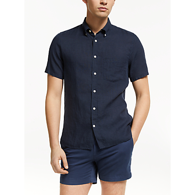 J.Lindeberg Linen Shirt, Navy