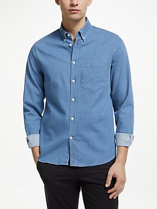 J.Lindeberg Denim Shirt, Light Indigo