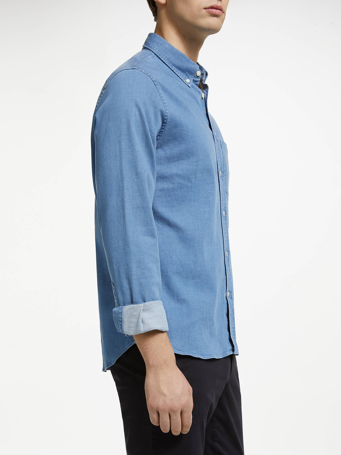 J.Lindeberg Mens Stretch Denim Shirt