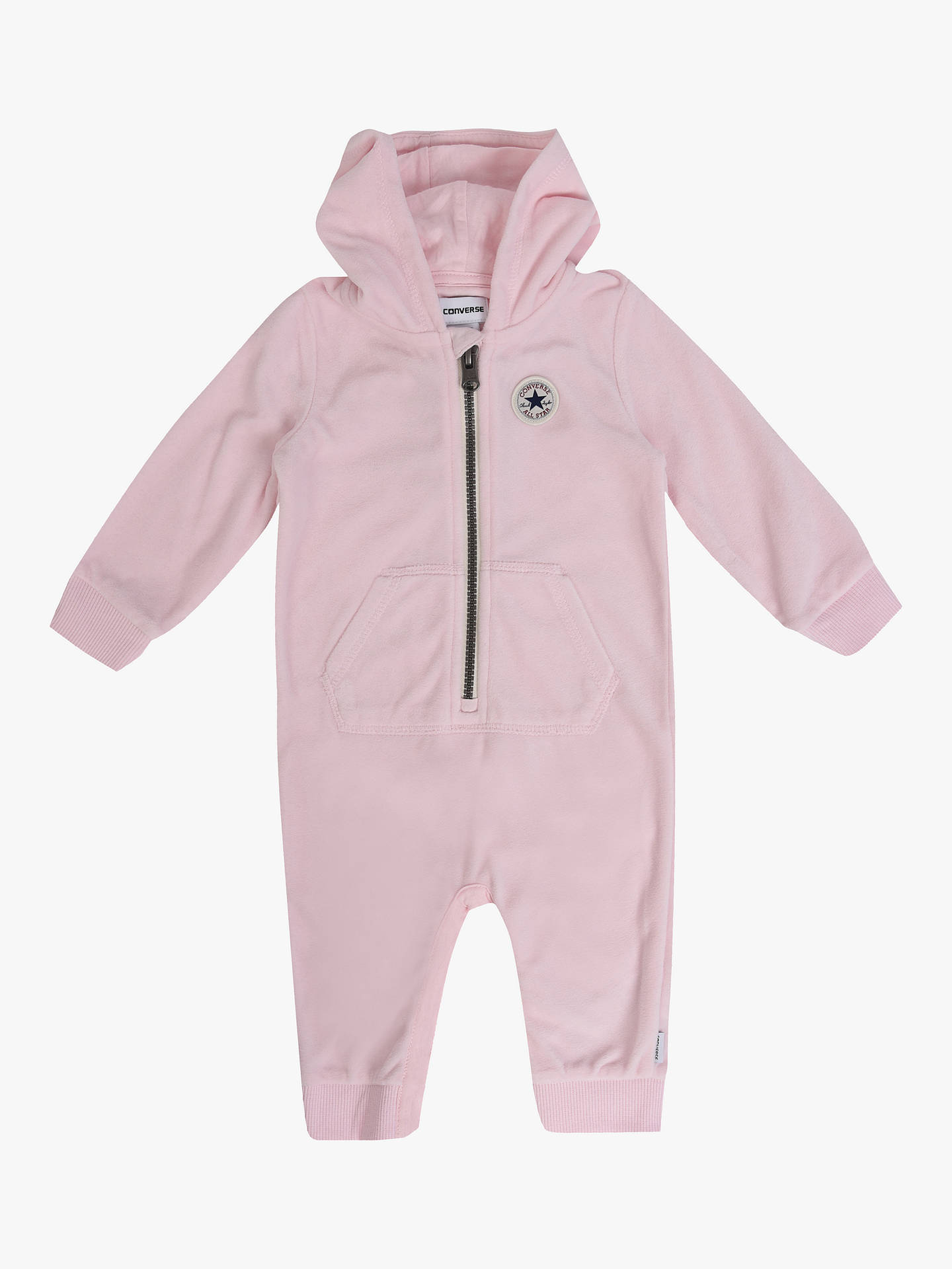 da81bba099a2 Converse Baby Velour Hooded Romper at John Lewis   Partners