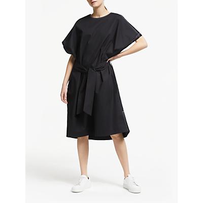 Kin Drawstring Sleeve Cotton Poplin Dress